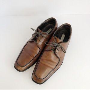 Joseph Abboud Mens Split Toe Brown Leather Shoes
